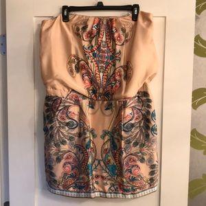 Mini strapless  dress